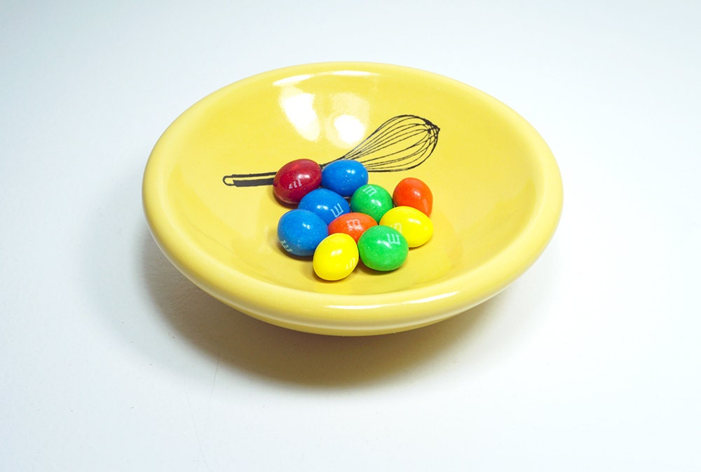 small dish, with a whisk on lemon butter, made to order / pick your colour
