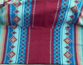 PRIVATE-Kayla Glacier Western Soutwestern Print Fleece 60 inches wide - 5 yds.