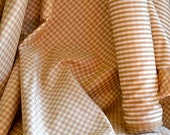 Decorator Fabric Gold & Rose Plaid Medium Weight Sturdy Cotton Blend