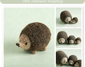 Knitted Toy knitting pattern for a little hedgehog