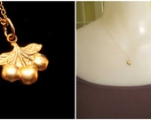 Teensy Tiny Triple Cherry Necklace