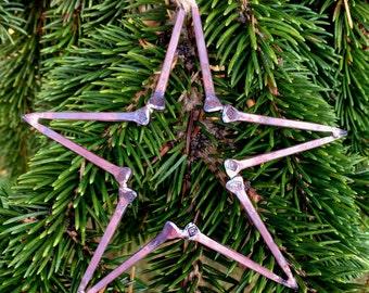 Horseshoe Nail Five-Point Star Ornament