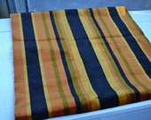 Vintage Upholstery, Velour Fabric, Orange Fabric, Striped Fabric, Velour, 1970s Fabric, 2 yards Fabric, Fabric, Upholstery Fabric