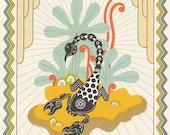 scorpio astrology silkscreen horoscope art
