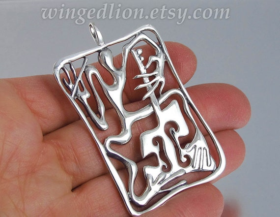 CELLIST sterling silver pendant Ready to ship