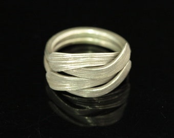 KY-038 thai karen hill tribe handmade silver ring