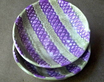 SALE Ceramic Prep Bowls Set of  TWO