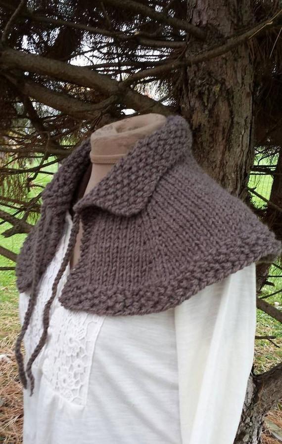 Hand Knit Outlander Highlands Capelet Shoulder Shawl Free