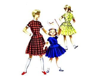 1950s Girls Dress Blouse Skirt McCalls 3344 Vintage Sewing Pattern Size 12 Breast 30 UNCUT