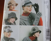 McCalls 6450 Fashion Accessories Hats and Gloves Sewing Pattern One size UNCUT