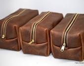 Groomsman Set - Large Arizona Leather Dopp Kit - Discounted Listing for Multiple Bags