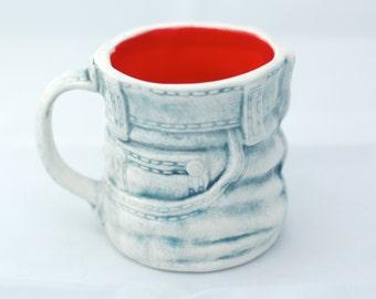 Denim Jeans Mug - Small Ceramic Mug - Ceramics and Pottery - Handmade Mug - Modern Ceramics