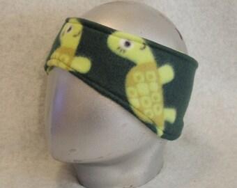 Adult Fleece Ear Warmers Muffs Headband Turtles
