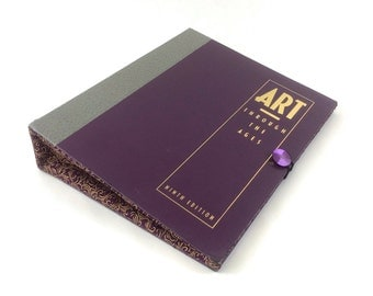 Art Through the Ages Book Clutch Purse - made from recycled vintage book by Rebound Designs