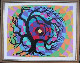 Tree art, Tree painting, canvas art, tree branches, TREE of life, Acrylic TREE painting