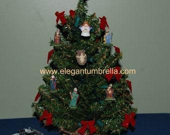 Nativity Pre-lit tabletop Christmas tree