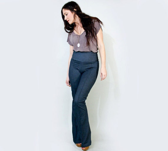 Flare Pants • Women's High Waisted • Bohemian Bellbottoms • Flared Jeans • Stretch Pants • Tall Long • Clothing (No. 37)