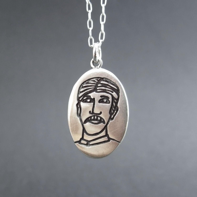 Nikola Tesla Necklace Sterling Silver Saint Nikola Pendant