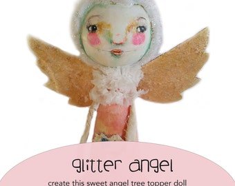 Glitter Angel online class - by Mindy Lacefield