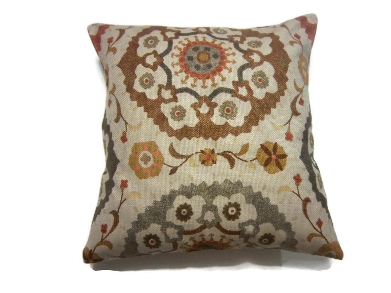 decorative pillow cover brown gray camel mustard gold orange. Black Bedroom Furniture Sets. Home Design Ideas