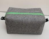 Grey Linen Box Pouch