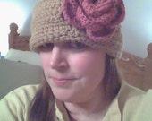 1920s Flapper Downton Abbey Inspired Crochet Cloche Hat