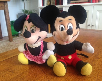 MICKEY & MINNIE MOUSE Walt Disney label 1940's doll