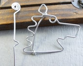 HORSE HEAD  SHAWL pin  wirework handmade
