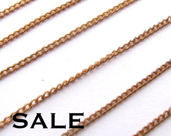 Vintage Brass Curb Chain - Soldered (12 Feet) (C614-A) SALE - 25% off