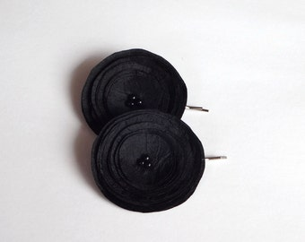 Black Poppies Hair Pins or Shoe Clips