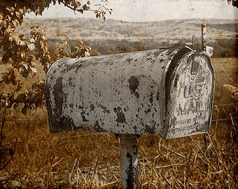 Antique Mailbox Digital Photography Download Instant  Distressed Cottage Texture Wall Decor Digital Download  Photograph Commercial Use