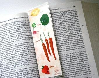 Veggies - illustrated bookmark