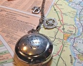 Compass on a Pocket Watch Chain - I'd Be Lost Without You - Boyfriend Gift - Husband Gift