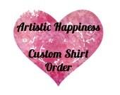Custom Shirt Order for Sarah
