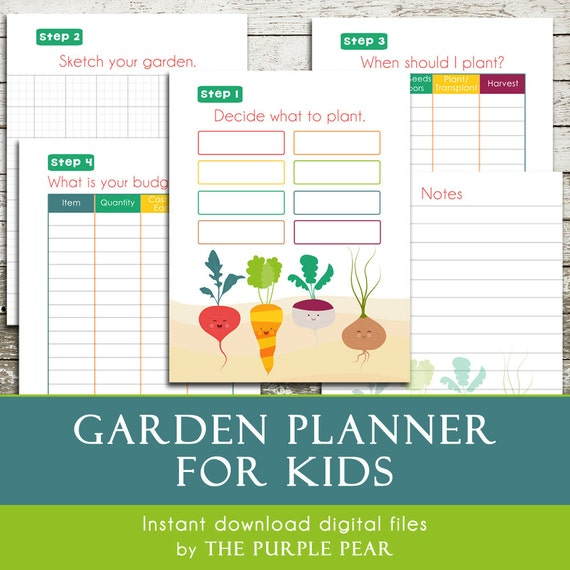 Printable GARDEN Planner for Kids Plan Your Garden in 5 Easy