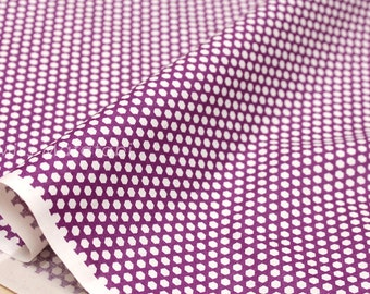 Japanese Fabric Suzuko Koseki little honeycomb - purple  - fat quarter