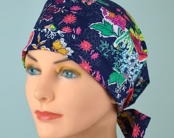 Scrub Hats // Scrub Caps // Scrub Hats for Women // The Hat Cottage // The Mini // Fabric Ties // Sunday Clippings