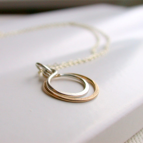 Sale. Petite Double Hoop Necklace