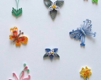 Flowers & Butterflies Quilling kit NEW 297