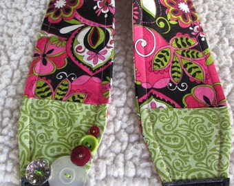 Unique one of a kind Pink Paisley Groovy Camera Strap