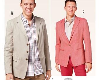 Burda Style Sewing PATTERN - 6813 - Men's Jacket - Sz 34-44