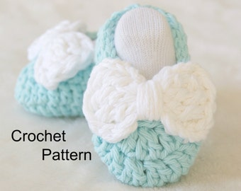 CROCHET PATTERN - PDF - Crochet Baby Shoes Pattern, Baby Slippers, 4 sizes included