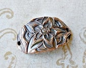 Metal Clay Morsels - Handcarved Copper Connector/Bracelet Bar