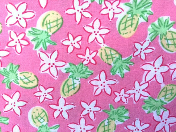 lilly pulitzer pineapple passion fabric. Black Bedroom Furniture Sets. Home Design Ideas