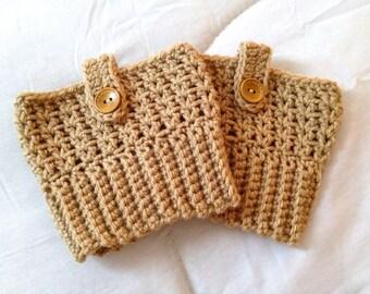 Boot Cuff - Crochet Boot Cuff - Boot Season - Fall Fashion - Beige Oatmeal