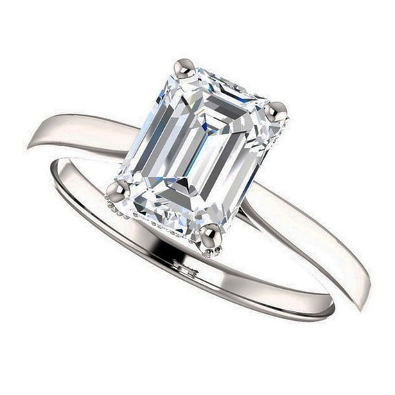 items similar to colby ring emerald cut moissanite