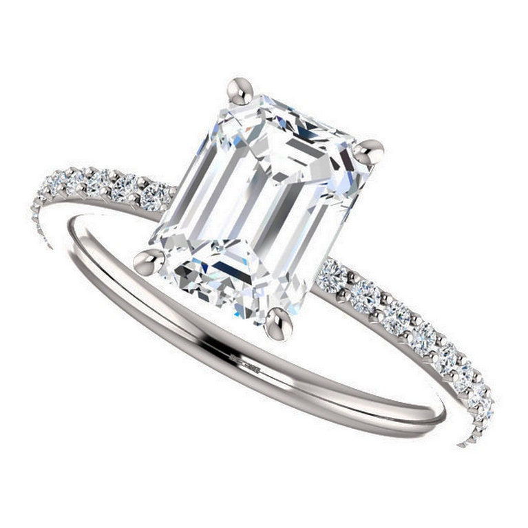 ring forever brilliant moissanite by jhollywooddesigns