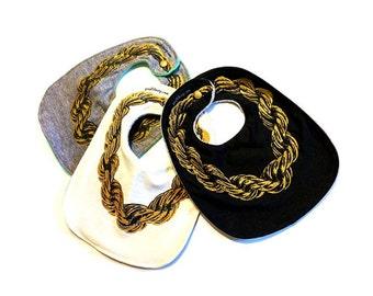 Gold Chain ) 3-pack  Baby's Bib