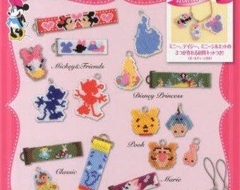 Shaped Peyote Stitch Disney Characters Beaded Motifs Pink - Japanese Craft Book