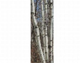 Birches bracelet for loom or peyote